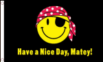 Pirate Have a Nice Day Matey Large Flag - 3' x 2'